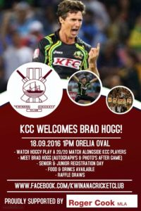 Brad Hogg September 18th