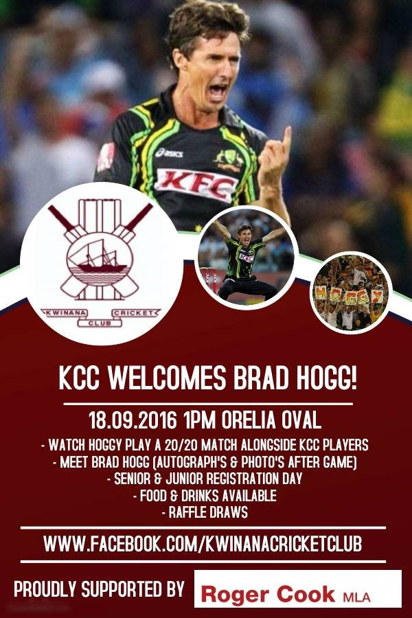 KCC welcomes Brad Hogg