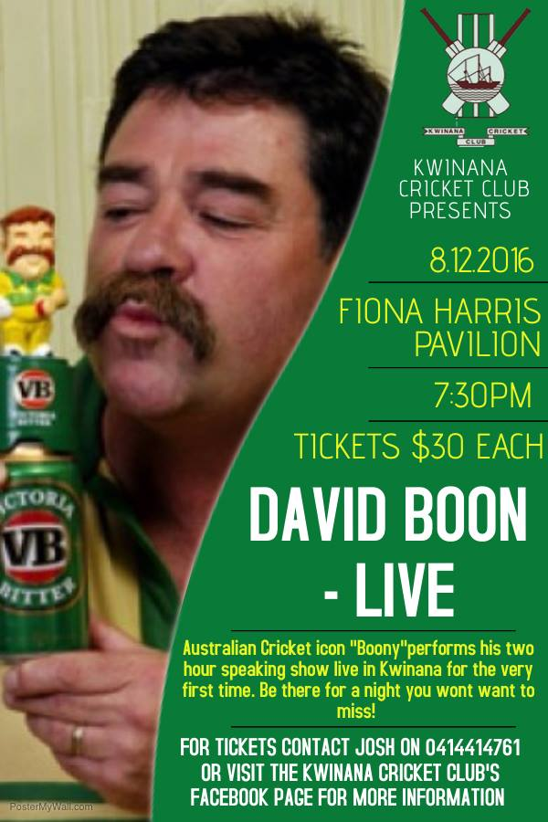 David Boon – Live at KCC!